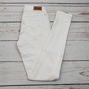 Levi's Legging Skinny Jeans Size 3 M 26 x 32 White